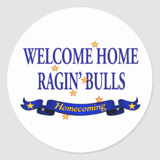 Welcome Home Ragin' Bulls Classic Round Sticker