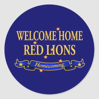Welcome Home Red Lions Classic Round Sticker