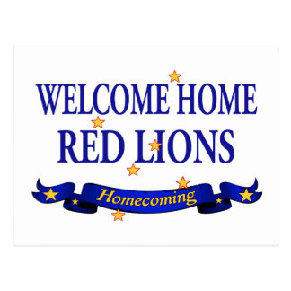 Welcome Home Red Lions Postcard