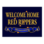 Welcome Home Red Rippers Postcard