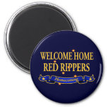 Welcome Home Red Rippers Refrigerator Magnets