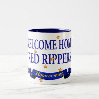 Welcome Home Red Rippers Two-Tone Coffee Mug