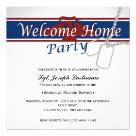 Welcome Home Red White Blue Military Personalized Announcement