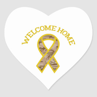 WELCOME HOME RIBBON HEART STICKERS