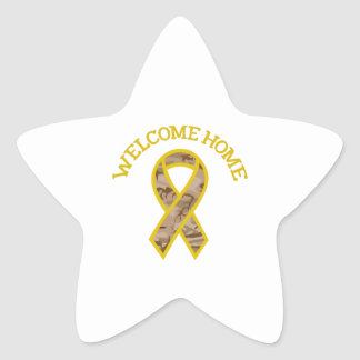 WELCOME HOME RIBBON STAR STICKER