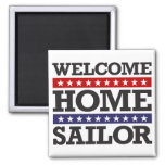 Welcome Home Sailor 2 Inch Square Magnet