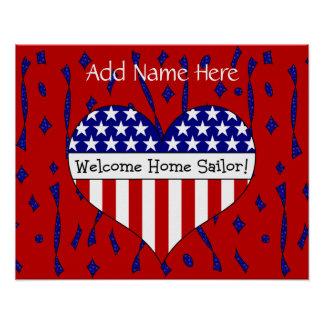 Welcome Home Sailor! (Customizable Name) Poster