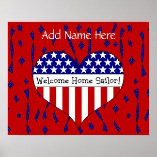 Welcome Home Sailor! (Customizable Name) Poster