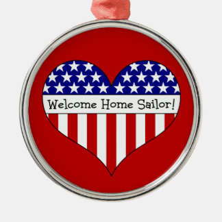 Welcome Home Sailor! Metal Ornament