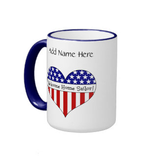 Welcome Home Sailor! Ringer Mug
