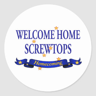Welcome Home Screwtops Classic Round Sticker