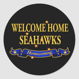 Welcome Home Seahawks Classic Round Sticker