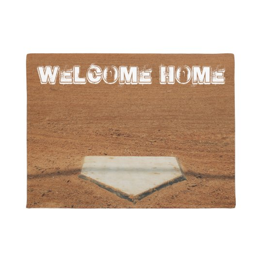 Exceptionnel Welcome Home Softball/Baseball Home Plate Doormat