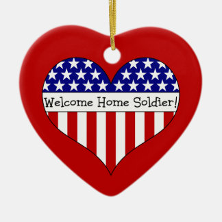 Welcome Home Soldier! Ceramic Ornament