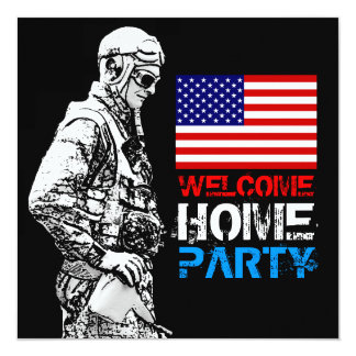 Welcome Home Soldier Party 2 Invitation