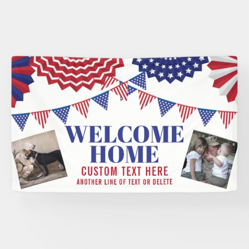 Welcome Home Soldier Patriotic 2 Photos Custom Banner