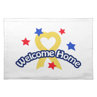 WELCOME HOME SOLDIER CLOTH PLACE MAT
