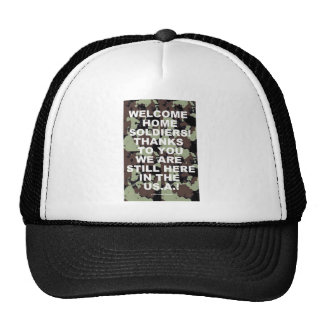 WELCOME HOME SOLDIERS TRUCKER HAT