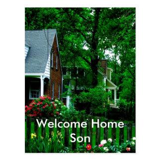 welcome home son postcard