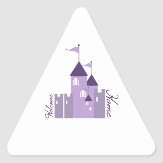 Welcome Home Triangle Stickers