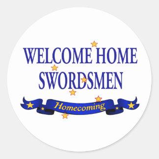Welcome Home Swordsmen Classic Round Sticker