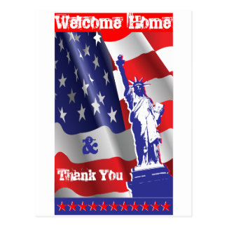 Welcome Home &Thank You Post Card