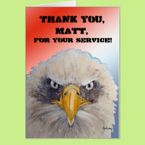 Welcome Home Thank Your For Your Service Military Card
