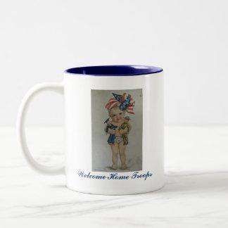 Welcome Home Troops customizable coffe mug cup