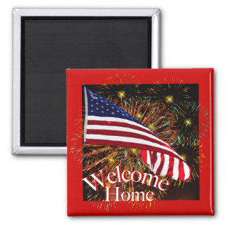 Welcome Home Troops Magnet