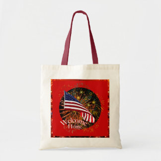 Welcome Home Troops Tote Canvas Bags