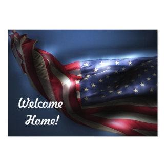 Welcome Home Troops!-U.S. Flag Card