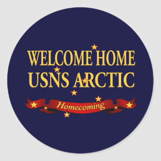 Welcome Home USNS Arctic Classic Round Sticker