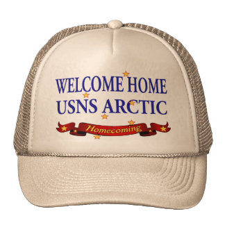 Welcome Home USNS Arctic Trucker Hat