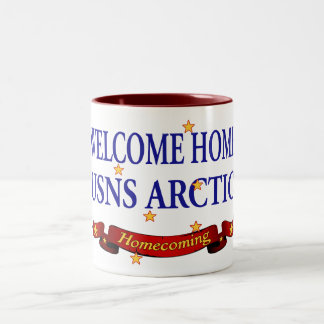 Welcome Home USNS Arctic Two-Tone Coffee Mug