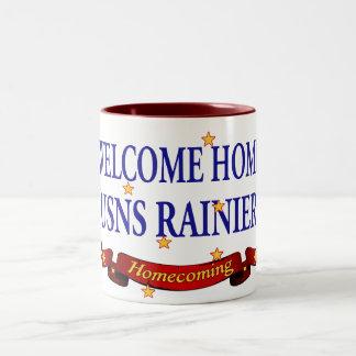 Welcome Home USNS Rainier Two-Tone Coffee Mug