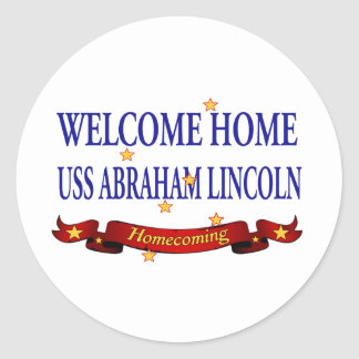 Welcome Home USS Abraham Lincoln Classic Round Sticker