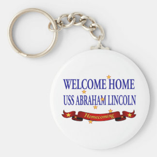 Welcome Home USS Abraham Lincoln Keychain