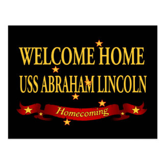 Welcome Home USS Abraham Lincoln Postcard