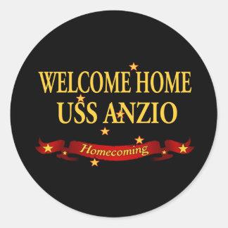 Welcome Home USS Anzio Classic Round Sticker