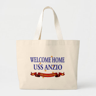 Welcome Home USS Anzio Large Tote Bag