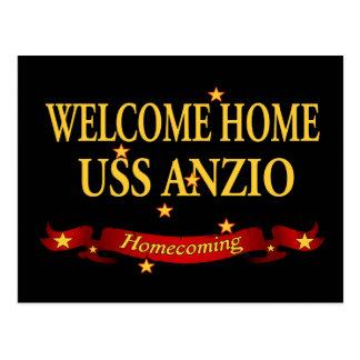 Welcome Home USS Anzio Postcard