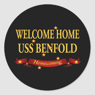 Welcome Home USS Benfold Classic Round Sticker