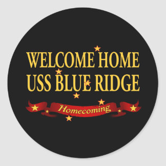 Welcome Home USS Blue Ridge Classic Round Sticker