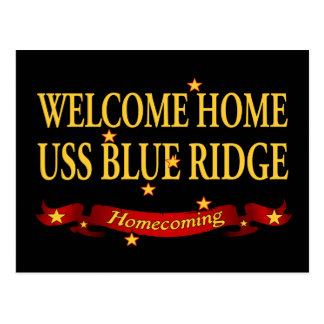 Welcome Home USS Blue Ridge Postcard