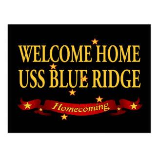 Welcome Home USS Blue Ridge Postcard