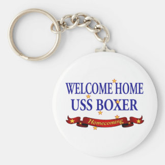 Welcome Home USS Boxer Keychain