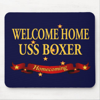 Welcome Home USS Boxer Mouse Pad