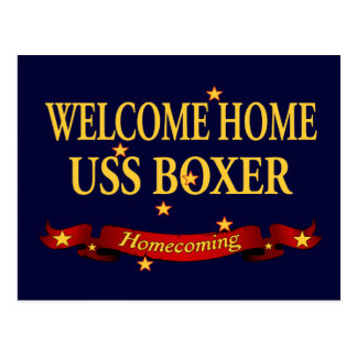 Welcome Home USS Boxer Postcard