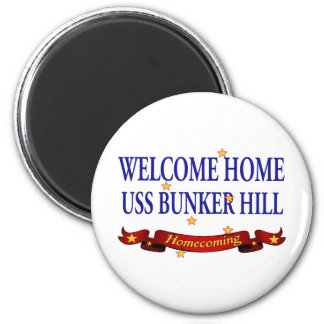 Welcome Home USS Bunker Hill 2 Inch Round Magnet