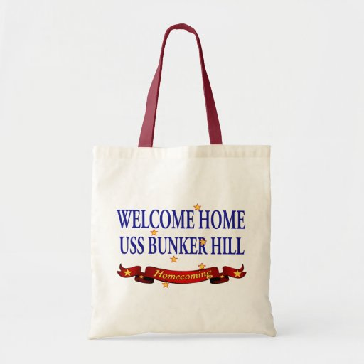 Welcome Home USS Bunker Hill Canvas Bags